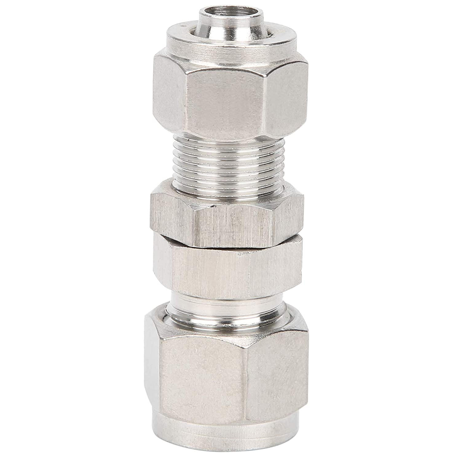 4Pcs Ferrule Compression Fitting 304 Stainless Steel Crack Prevention Simple and Convenient Possess Firm Connection for Hard Tube Conversion Hose Ф108