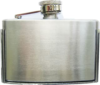 New Classic Three Ounce Stainless Steel Flask Belt Buckle also Stock in US