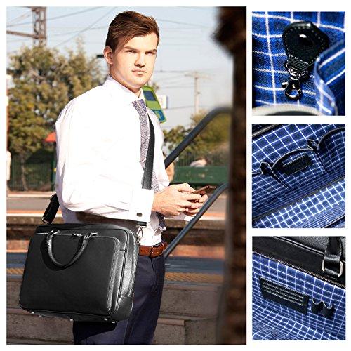 BFB Laptop Messenger Bag - Designer Business Computer Bag or Briefcase for Men - Ideal Commuter Bag for Work and Travel - Black by My Best Friend is a Bag (Image #7)