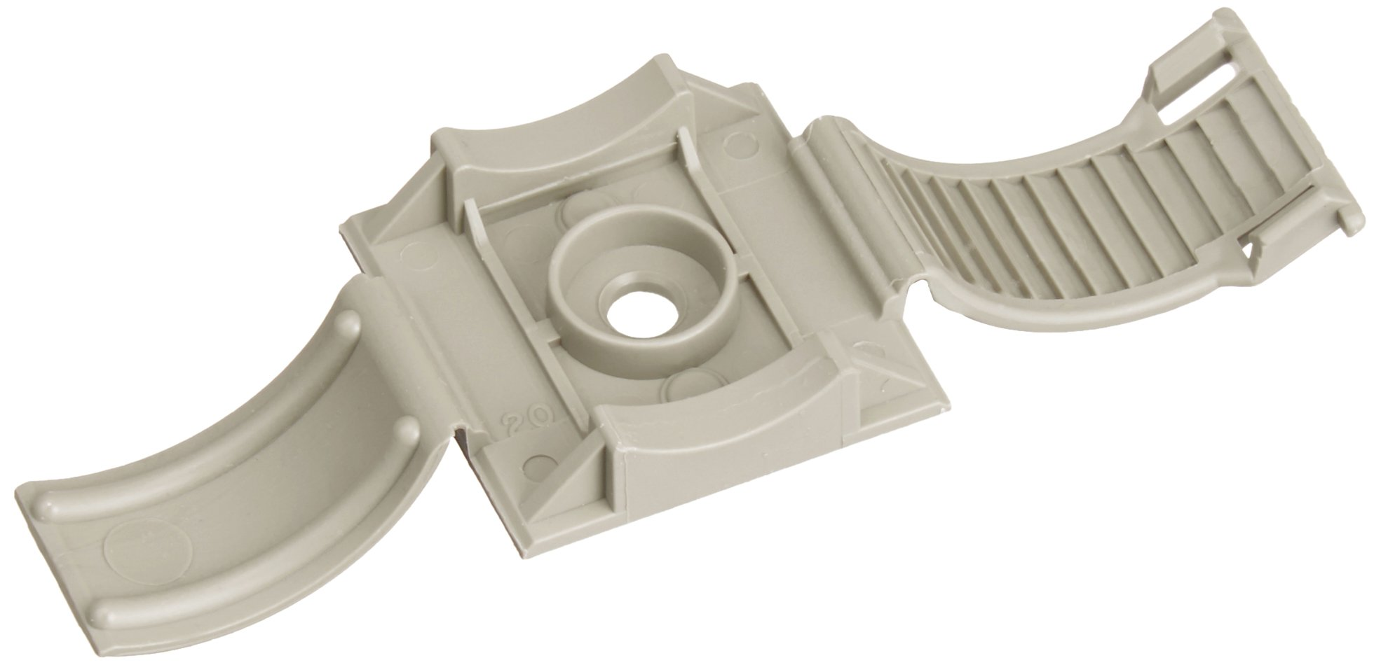 Panduit ARC.68-A-C14 Clincher Adhesive Backed Adjustable Releasable Clamp, Polypropylene, Gray (100-Pack)