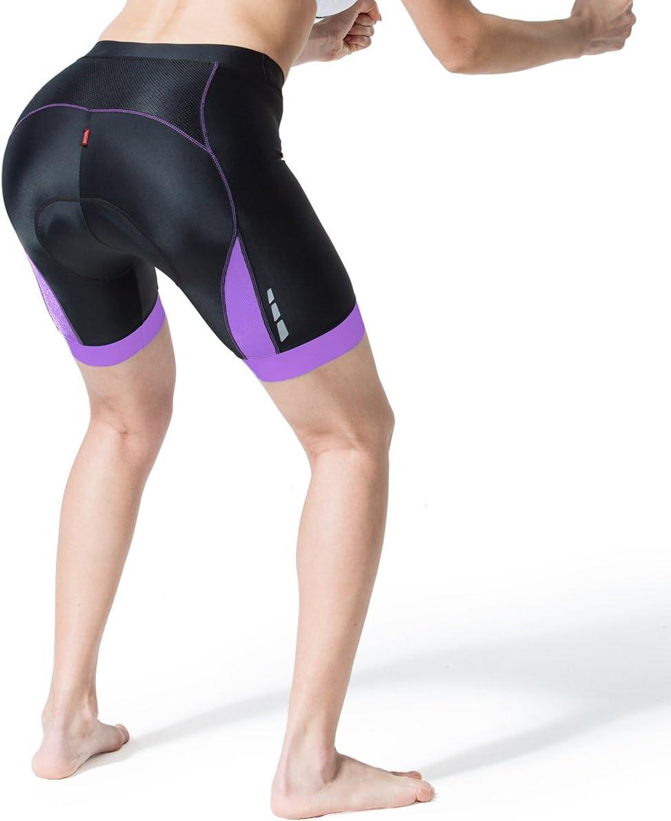 Souke Sports Short de cyclisme 4D rembourr/é pour femme