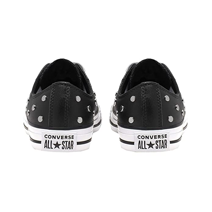 Converse Chuck Taylor all Star Leather Studs Ox Sneakers Donne Nero Sneakers Basse