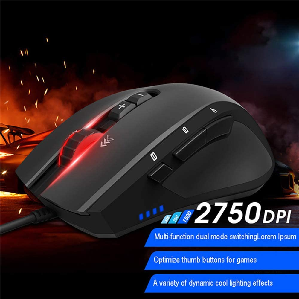Ergonomic RGB Backlight Mice for The High-End Players /& Gaming Professional Players 4 File Switching Yehyep Wired Gaming Mouse 2750DPI Variablecomputer Mice