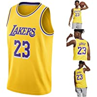 YAVATA Lebron James, 18-19 NO.23 Lakers Retro, Camiseta