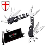 Grand Way Mini Tool - Multitool with Knife and Pliers - Best Black Multi Purpose Tool with All in One Tool Set - Small Functional Everyday Knife for Camping, Survival and Outdoor Activities 2244