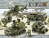 Sluban Building Block B0311 Military Land Forces Joint Attack 996 Pieces Tank Gunship Jeep Car Truck 10 Doll Lego Compatible