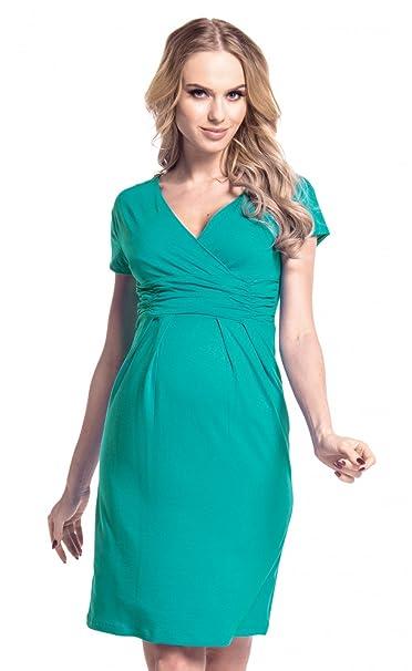 big sale 8303f 3f6f8 Happy Mama Donna Maternità Elastico Allattamento Vestito ...