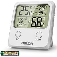 WisFox Termómetro Higrómetro Digital, Higrómetro Digital de Temperatura Interior con Monitor de Pantalla más Grande…