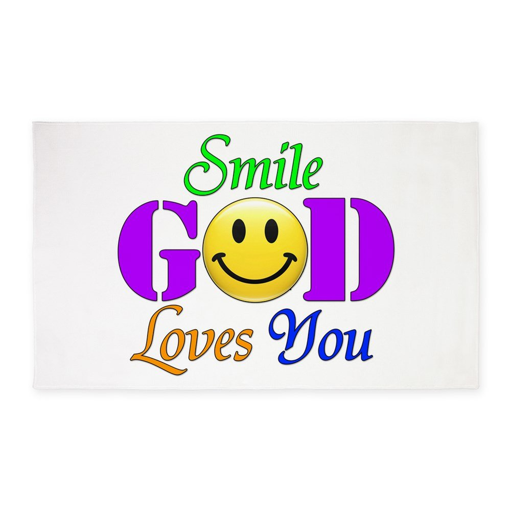 3' x 5' Area Rug Smile God Loves You by Royal Lion