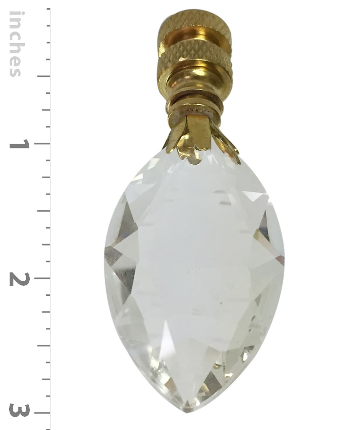 Royal Designs Fan Pull Chain with Pear Shaped Crystal Finial – Polished Brass – Set of 2 by Royal Designs, Inc (Image #3)