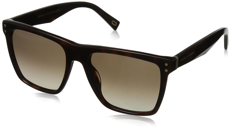 Marc Jacobs Women's MARC119S Square Sunglasses Black/Dark Gray Gradient 54 mm