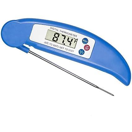 Termómetro digital Ksera de lectura instantánea de vino/carne termómetro, plegable LCD termómetro de