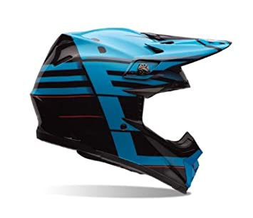 Bell Moto-9 Flex Off Road Motorcycle Helmet (Blocked Blue, X-Small