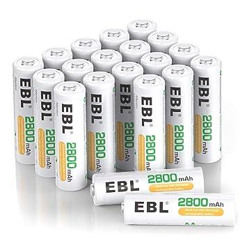 Amazon.com: EBL - Cargador de batería AA AAA, 20-AAPCS, 1 ...