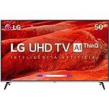 "Smart TV LED PRO 50"" Ultra HD 4K LG 50UM751C0SB, ThinQ AI, 4 HDMI, 2 USB, Wi-Fi"
