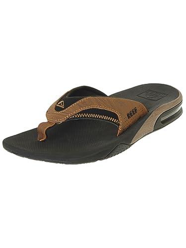 0ba144cff22f Amazon.com  Reef Men s Fanning Prints Black Wood 2 Medium  Shoes