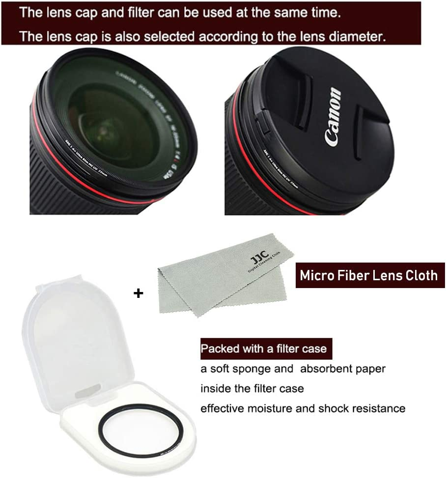 38 Layers Ultra Slim Nano Coating UV Ultra Violet Filter for Camera Lens with 37mm Filter Thread 37mm UV Protection Filter with Micro Fiber Cleaning Cloth
