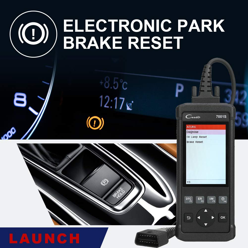 Launch OBD2 Scanner,Code Reader 7001S OBD II Scan Tool ABS SRS Diagnostic Scanner Tools with Oil Rest EPB Service,ABS Reset Service Functions. by LAUNCH (Image #4)