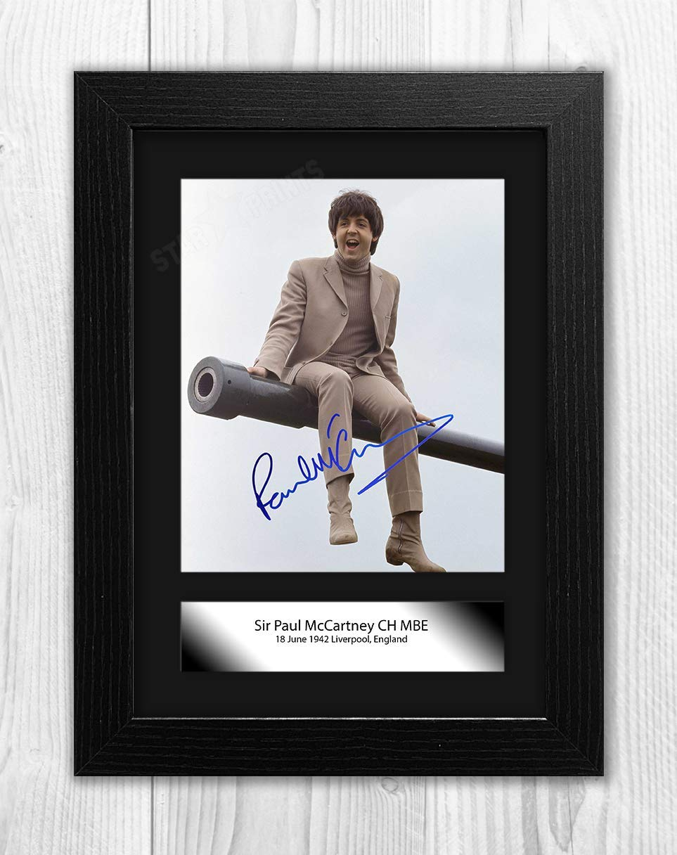 Silver Frame 2 Poster Signed Autograph Reproduction Photo A4 Print/ Engravia Digital Paul McCartney