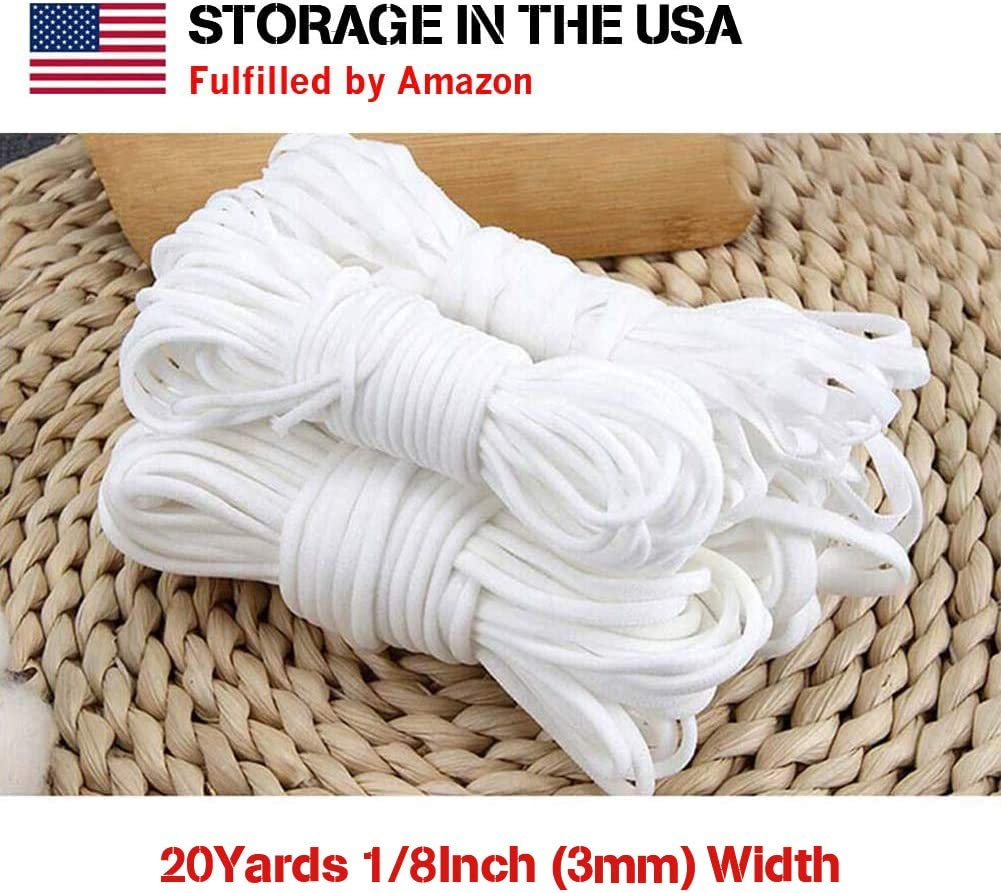 Elastic Band 10 Yard 1//8 inch 3mm Shed Protector Sewing Elastic Rope Cord String for DIY Making Stretch Craft
