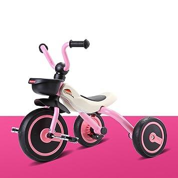 Triciclo Para Niños 2-4 Años De Edad Titanio Vacío Amortiguador Rueda Coche De Juguete