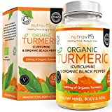 Organic Turmeric Curcumin & Black Pepper 600mg | Highest Potency Available | 120 Clear Veg Capsules (Suitable For Vegetarians) | SOIL ASSOCIATION Organic Certified & Made in the UK by Nutravita