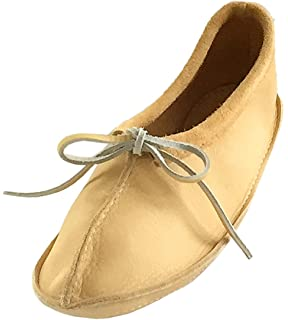 Bastien Industries Womens Maple Tan Moose Hide Leather Ballet Earthing Moccasins