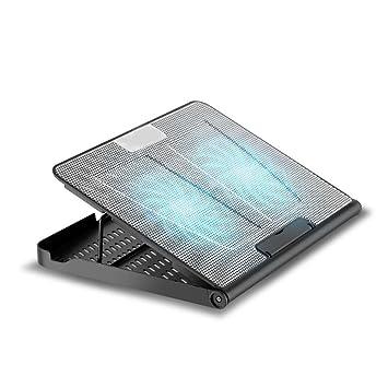 Aoligei placa de soporte de almohadilla de base del ventilador del radiador del ordenador portátil de 15,6 pulgadas: Amazon.es: Electrónica