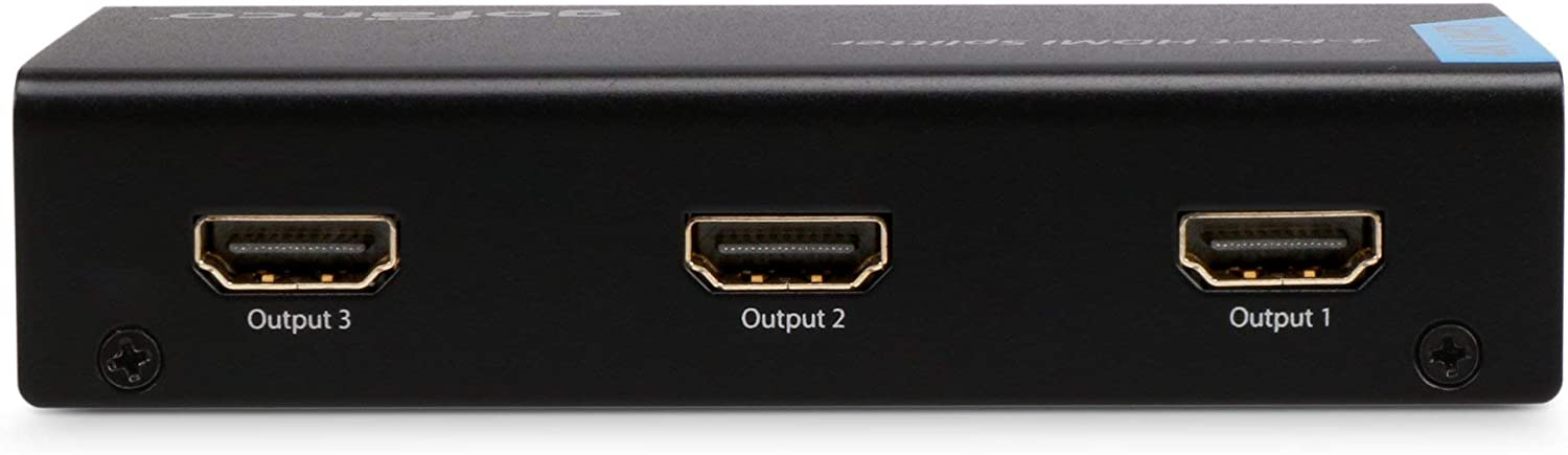Renewed Compliant with HDMI and HDCP Standards Splitter4P Supports up to Ultra HD 4K @30Hz,3D gofanco HDMI Splitter 4K 1X4 Port HDMI to HDMI Signal Distributor with 4 EDID Modes 1 in 4 Out