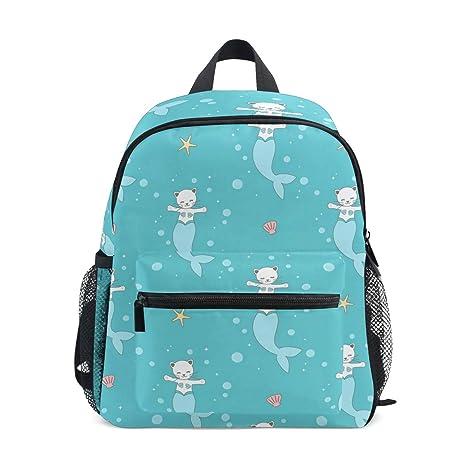 Mochilas para niños, diseño de sirena, mochila escolar para niños y niñas