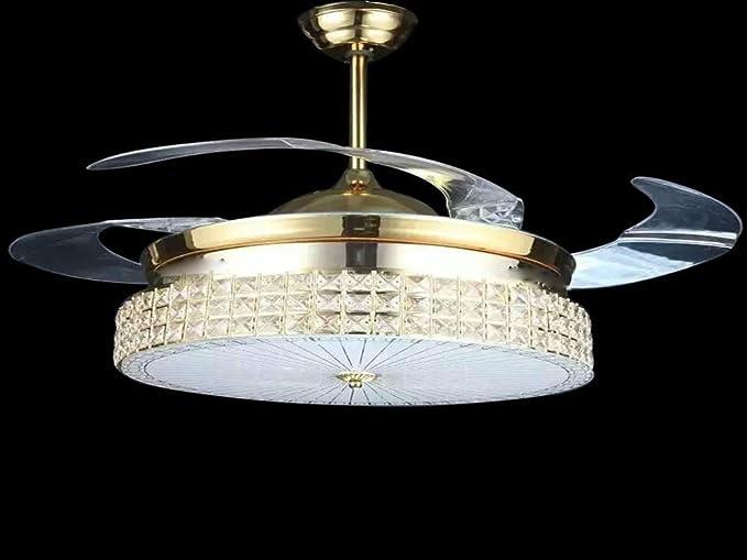 Sdkky led moderni ventilatori a soffitto ristorante luce