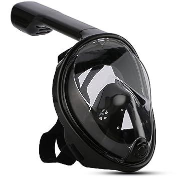 GRH Cara Completa Máscaras de Buceo Vista Panorámica Antivaho Antiarranque Natación Snorkel Buceo Máscara submarina de