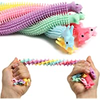 Sensory Stress Relief and Fidget Therapy Unicorn Stretchy String Toys for Kids and Adults, 6 Pack Strings Set Anti…
