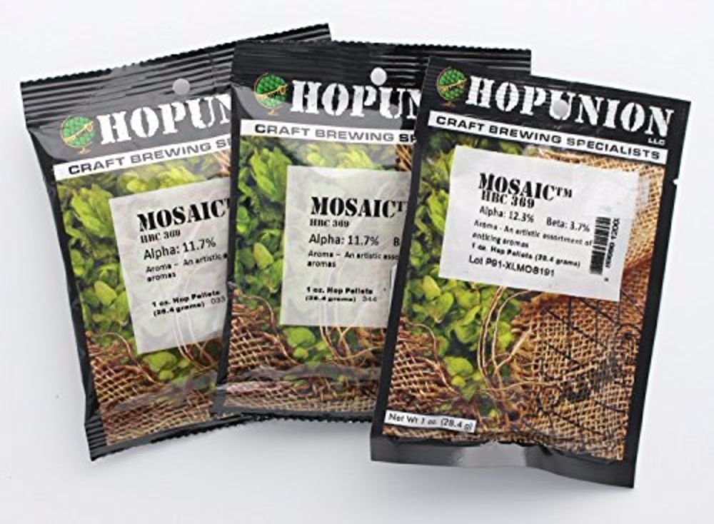 Home Brew Ohio Mosaic Hop Pellets 3 oz