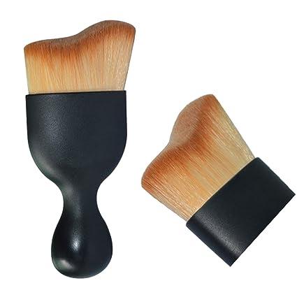 ovalada cepillo de dientes Lover Bar Curve Liquid Foundation brush-beauty Cosmetics tools-professional