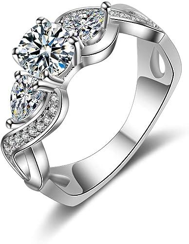 YAZILIND Ladies Rings Elegant Cubic Zirconia Rings Wedding Jewelry for Ladies Girlfriend