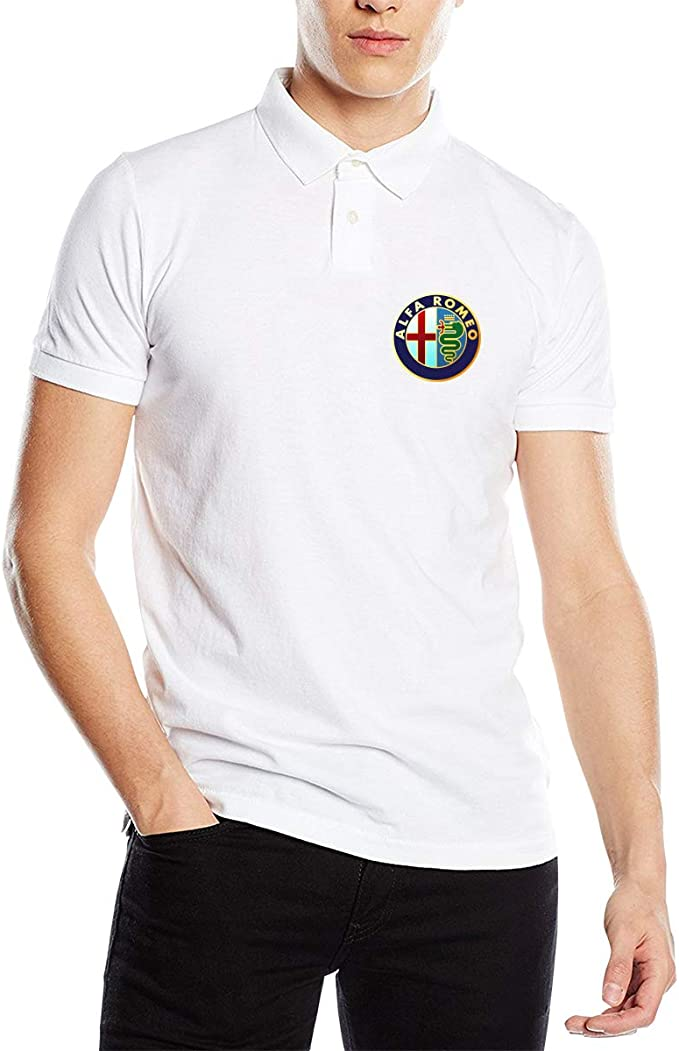 Hengteng Mens Custom Classic Tee Alfa Romeo Logo Tshirts