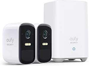 eufy Security, eufyCam 2C Pro 2-Cam Kit, Wireless Home Security System with 2K Resolution, 180-Day Battery Life, HomeKit Compatibility, IP67, Night Vision, and No Monthly Fee.