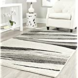 Safavieh RET2691-7912-8 Retro Collection Modern Abstract Light Grey & Ivory Area Rug, 8' x 10'