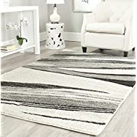 Safavieh Retro Collection RET2691-7912 Modern Abstract Light Grey and Ivory Area Rug (5 x 8)