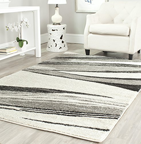 Safavieh Retro Collection RET2691-7912 Modern Abstract Light Grey and Ivory Area Rug (8' x (Casual Elegance Ivory Rectangular Rug)