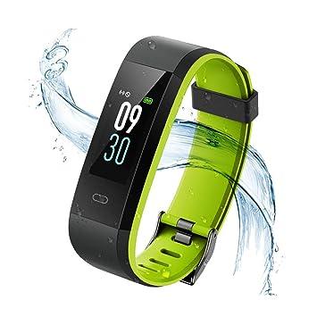 746f603c6113 Vigorun Monitor de actividad física, pantalla colorida con monitor de  frecuencia cardíaca, Bluetooth 4.0 IP68, impermeable, pulsera inteligente  de ...