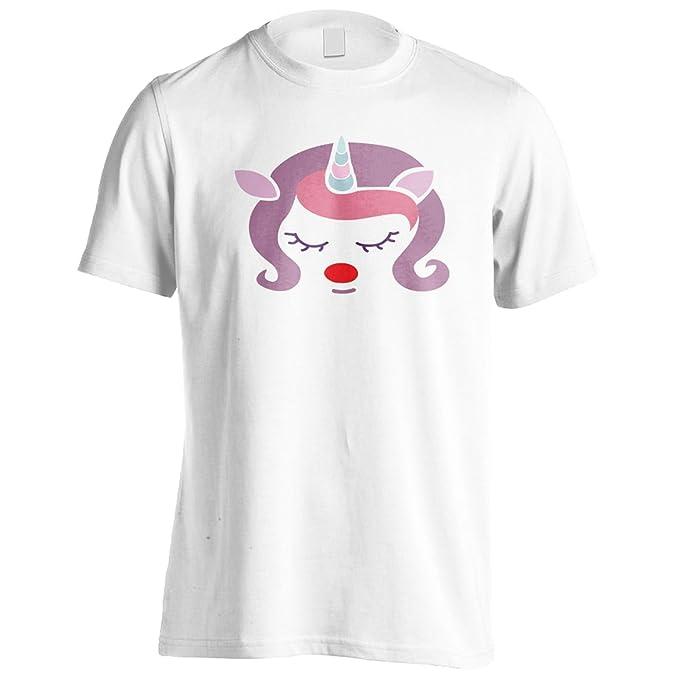 cara de unicornio de Navidad 04 Camiseta de los hombres u863m: Amazon.es: Ropa y accesorios