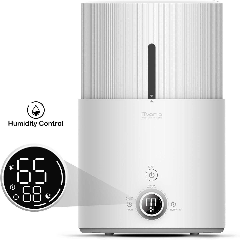 iTvanila Cool Mist Humidifier, 4.5L Ultrasonic Humidifier