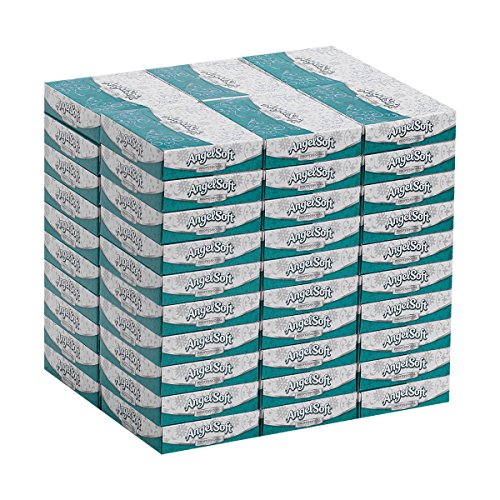 Angel Soft Professional Series 2-Ply Facial Tissue by GP PRO (Georgia-Pacific), Personal Size Flat Box, 48550, 50 Sheets Per Box, 60 Boxes Per Case