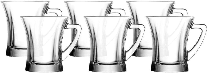 220cc Set of 6 pcs Gurallar Artcraft Truva coffe Glass