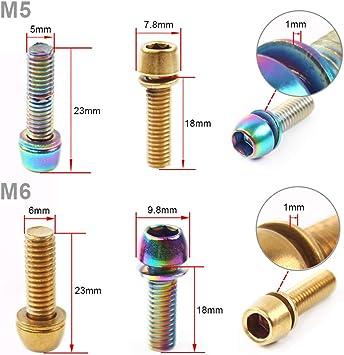 6 screws hex hollow m5x12 inox chc for tightening gallows//collar//saddle stem x1