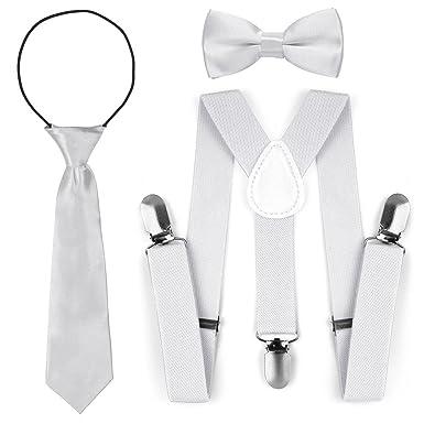 ae84d70c33c65 Bretelles réglables de mode élastique d'enfant en bas âge de noeud papillon  cravate ensemble