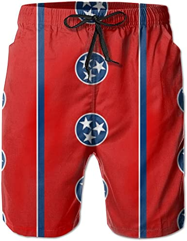 Mens Quick Dry Beach Board Shorts American Flag And Canadian Flag Funny Swim Trunks Surf Pants With Mesh Lining