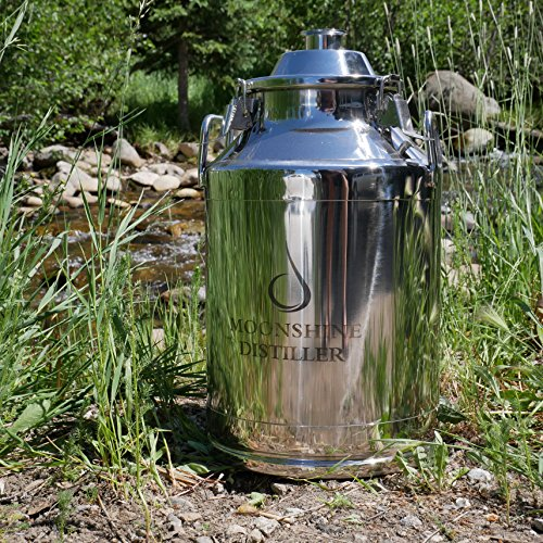 8 gallon stainless steel milk can - 5